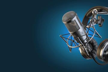 microfone locutor